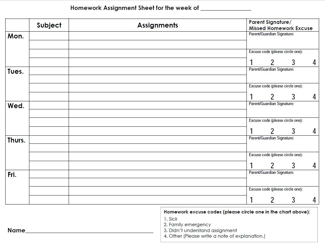 5 Best Images Of Middle School Planners Printable