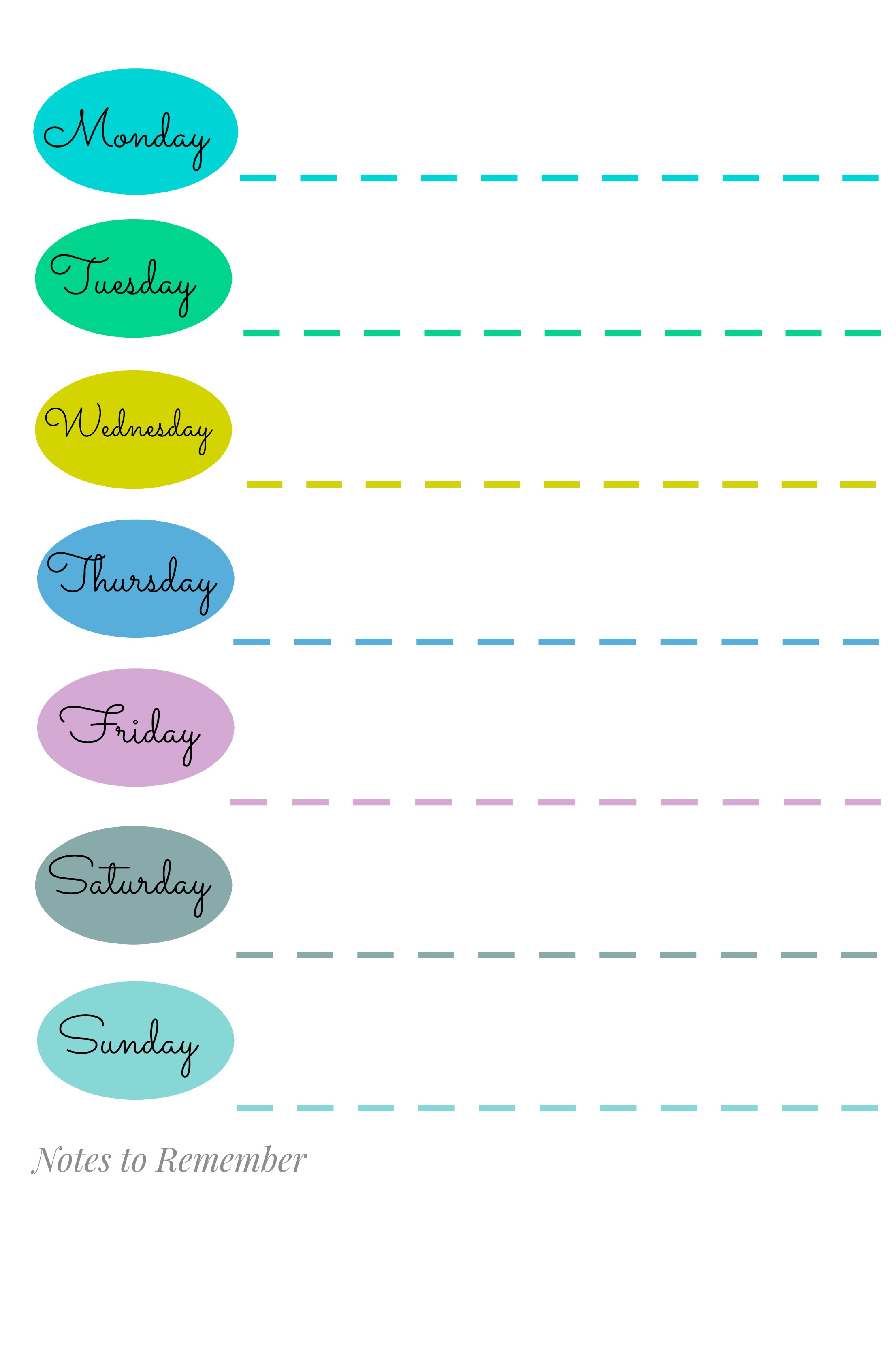 blank daily schedule for teachers