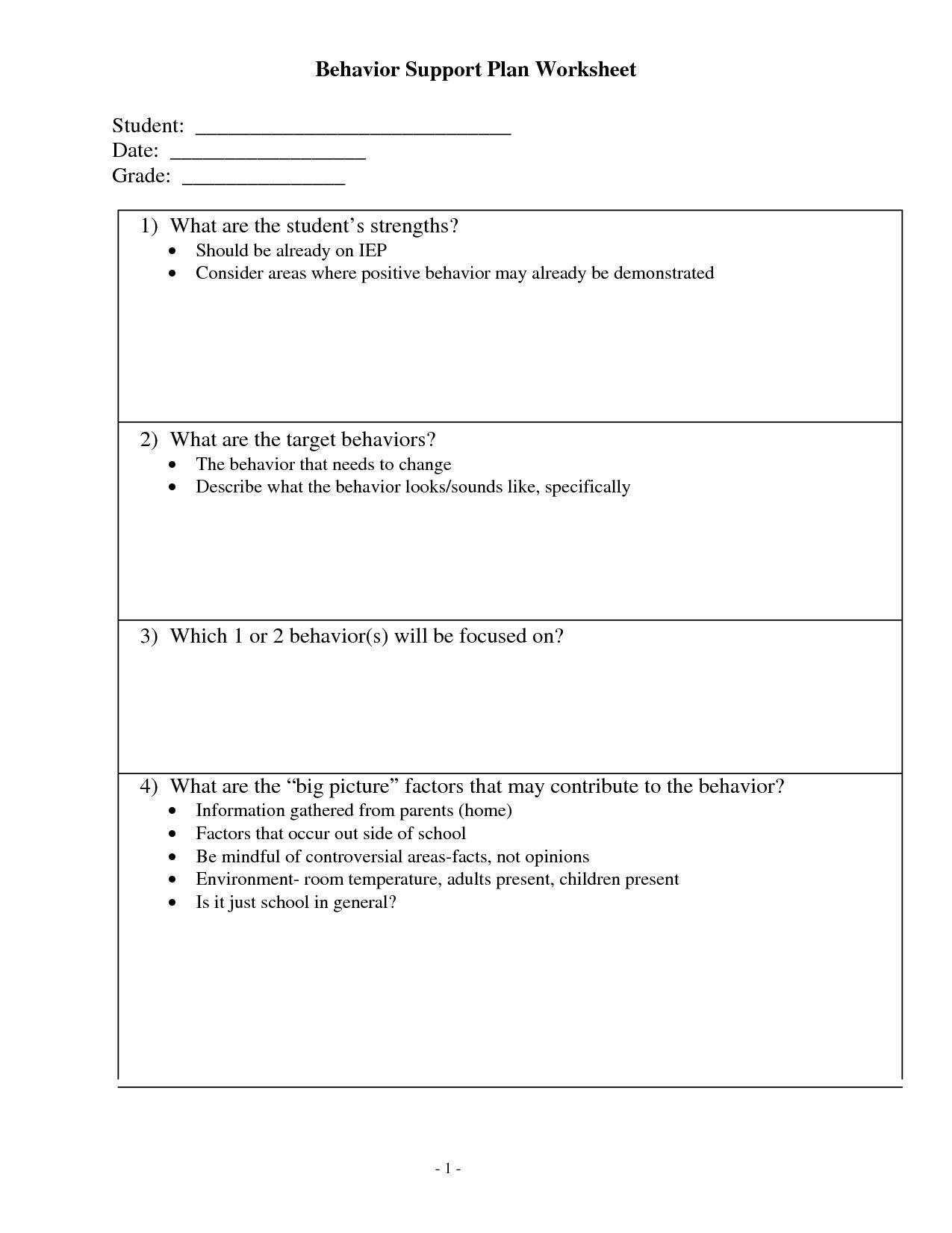 Antecedent Behavior Consequence Worksheet