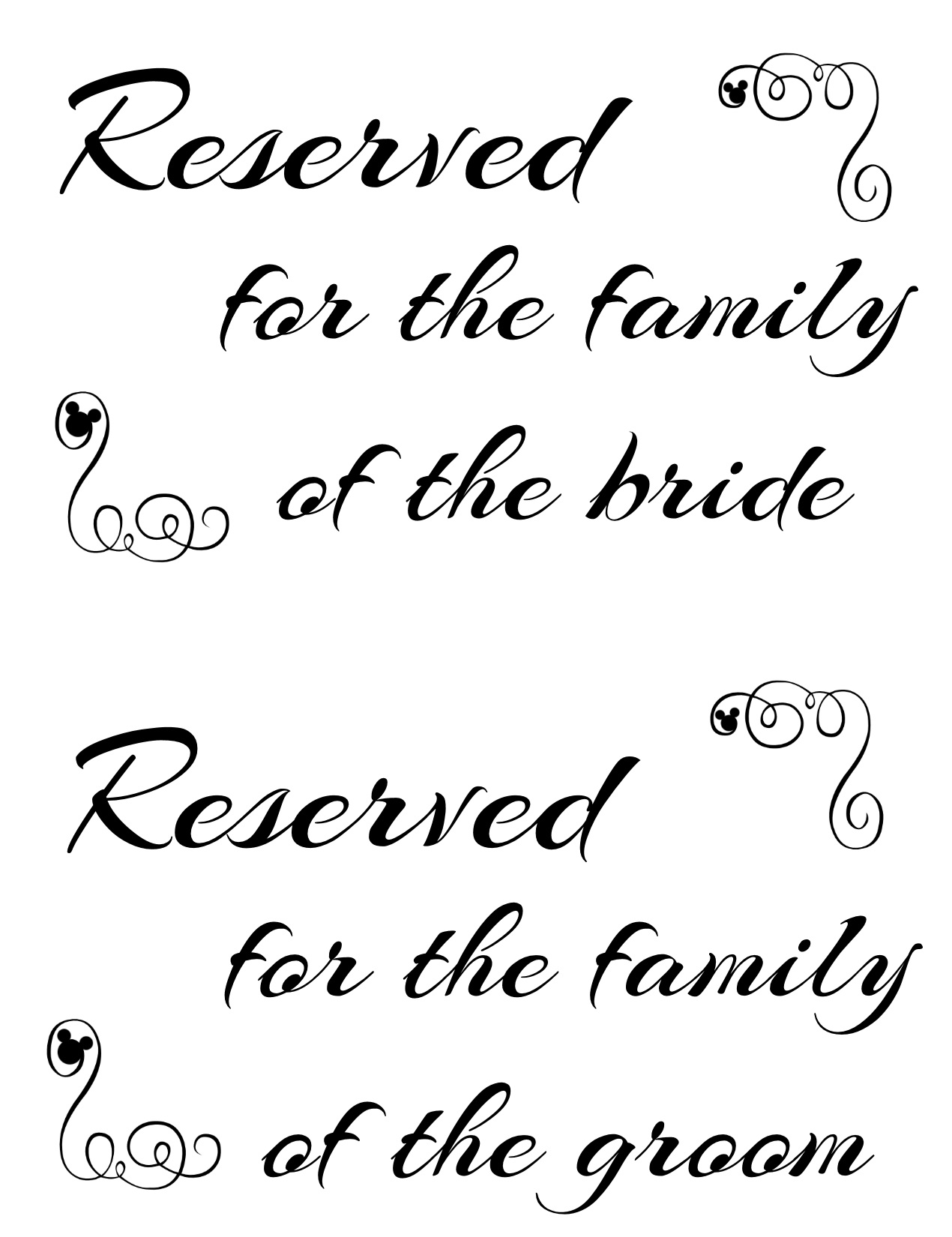 reserved signs for chairs template love bag chair 9 best images of family printable