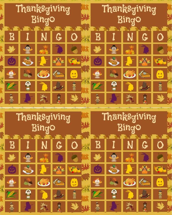 6 Best Images Of Dinner Bingo Printable Thanksgiving