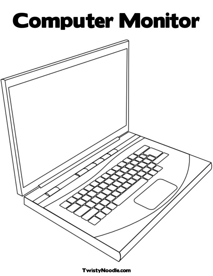 Laptop Keyboard Pages Coloring Pages