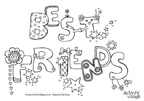 6 Best Images of Cute Best Friend Coloring Printables