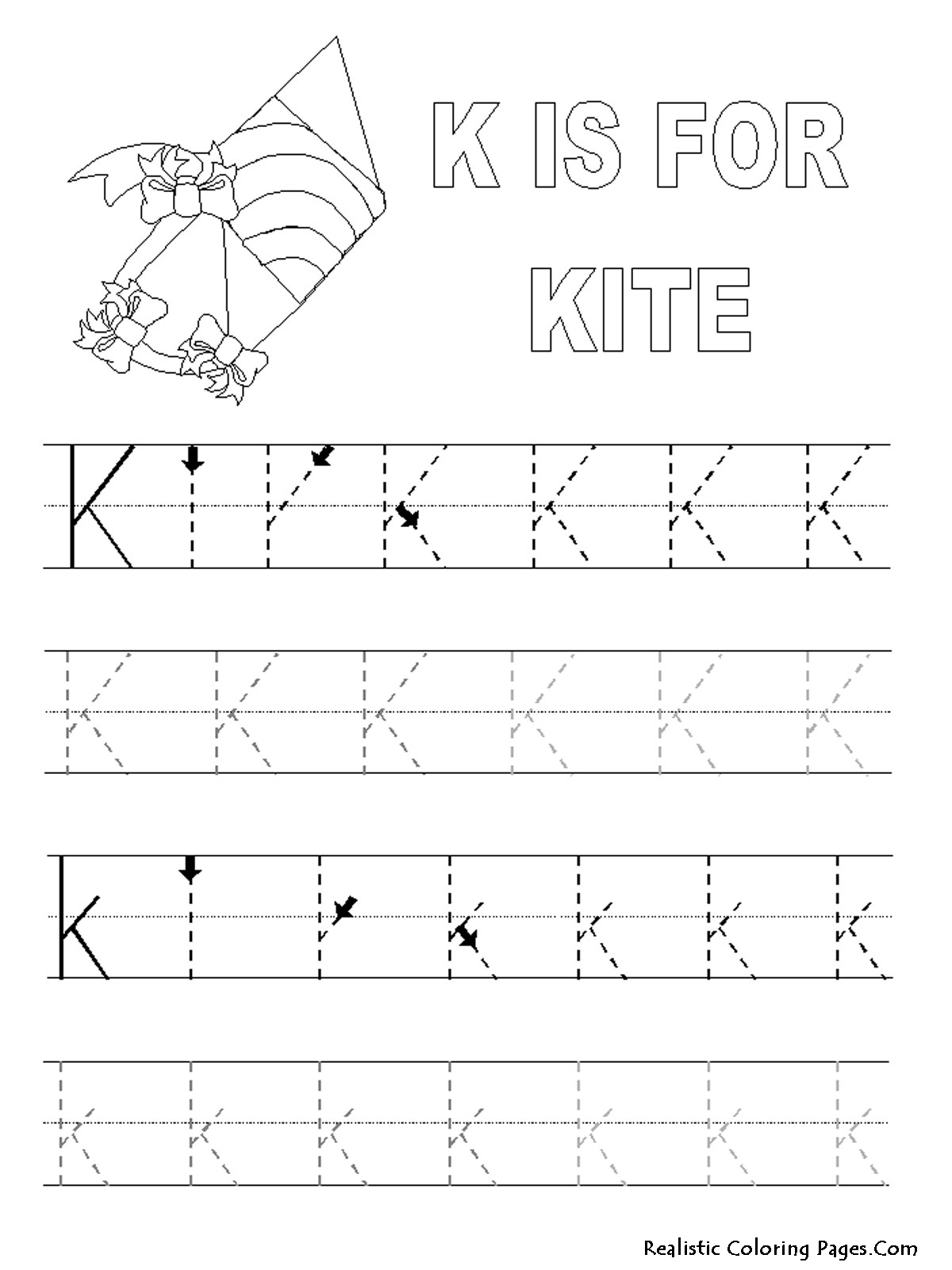 5 Best Images Of Printable Sheet Letter K