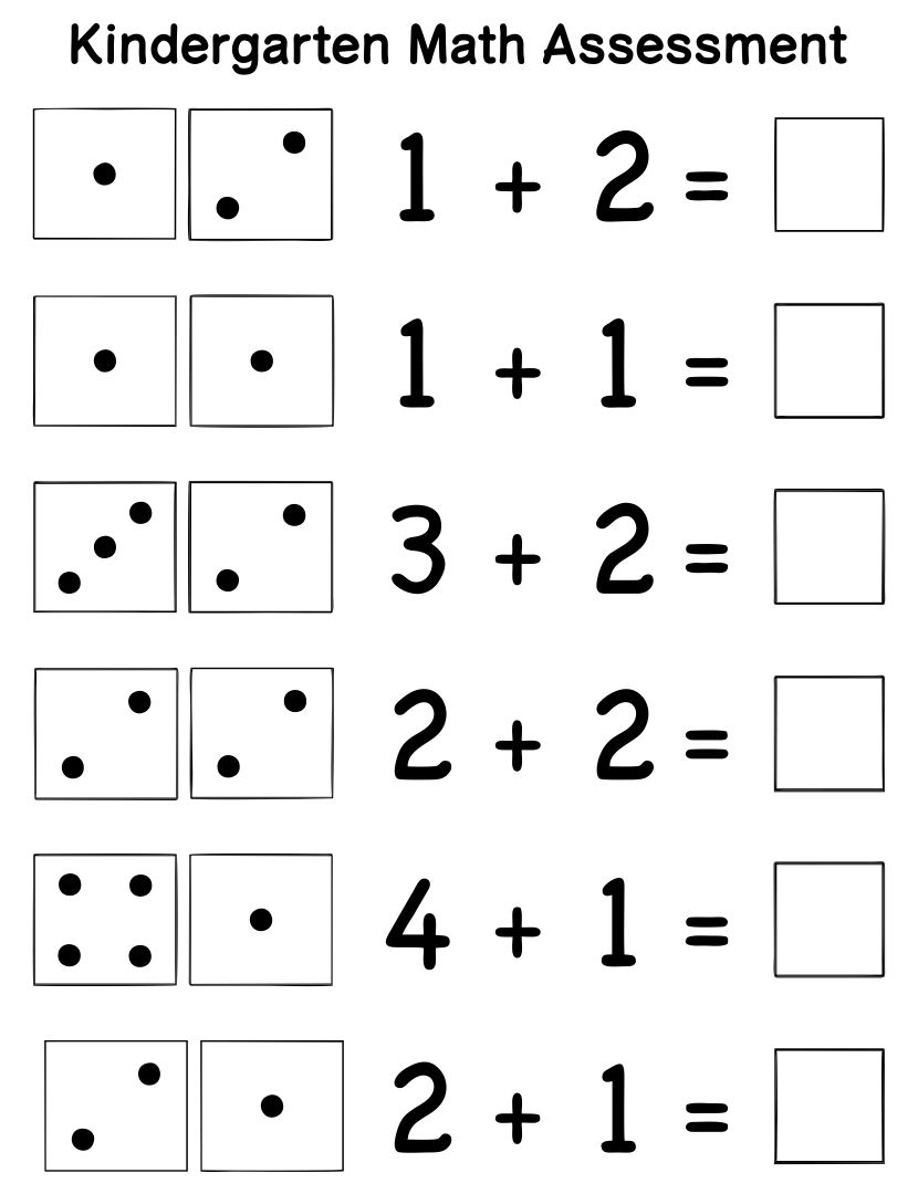 4 Best Kindergarten Assessment Math Printables