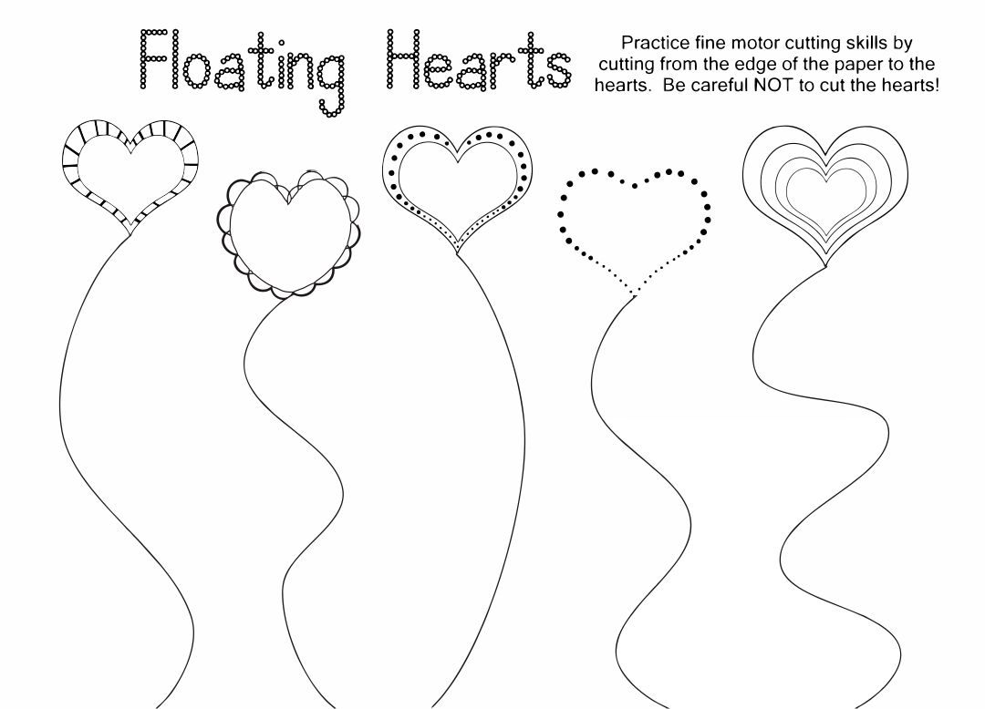 7 Best Valentine S Free Printable Cutting Worksheets