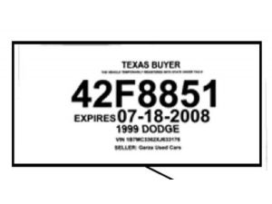 7 Best Images of Texas Temporary License Plate Printable