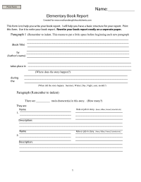 8 Best Images of Middle School Book Report Printable ...