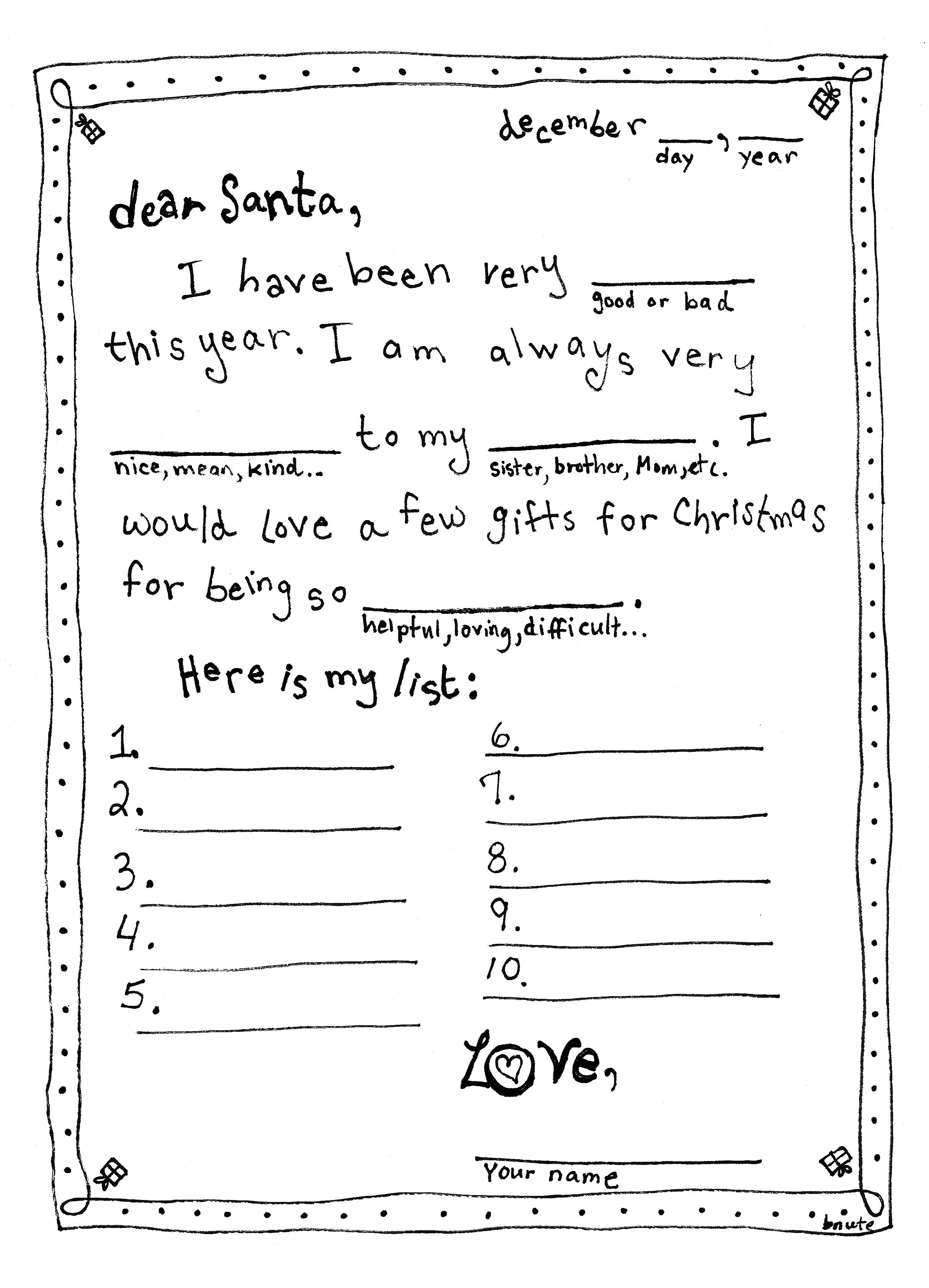 7 Best Images Of Santa Mad Libs Printable