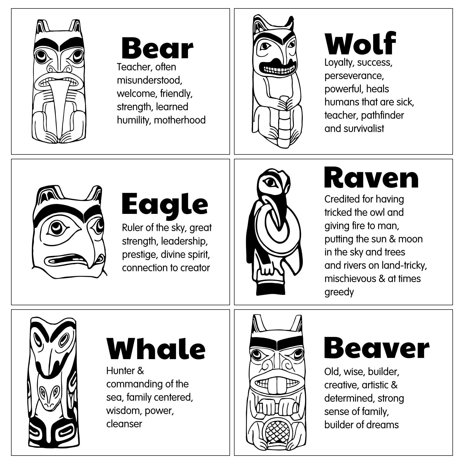 Totem Poles Worksheet Na