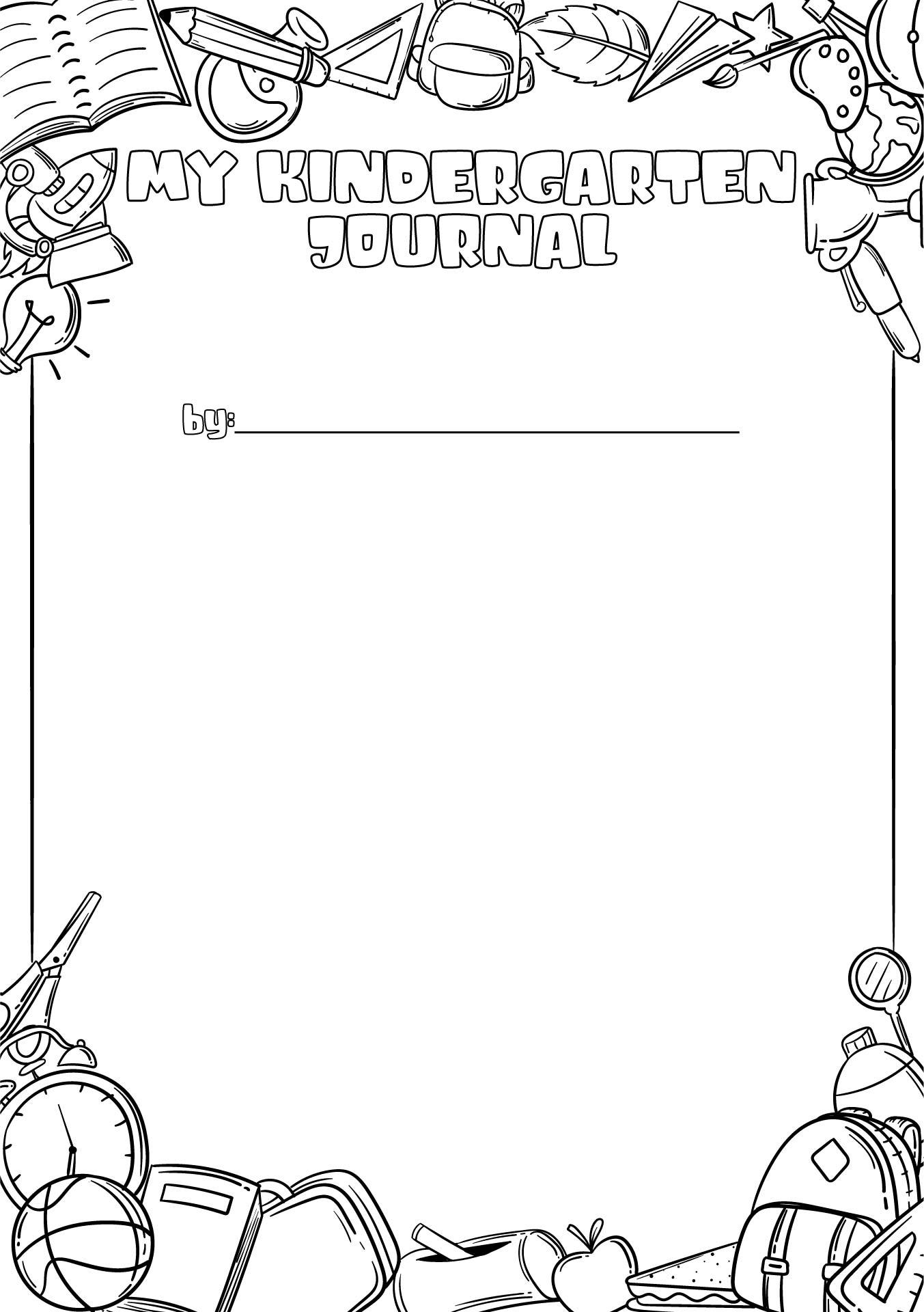5 Best Images of Printable Kindergarten Journal Covers