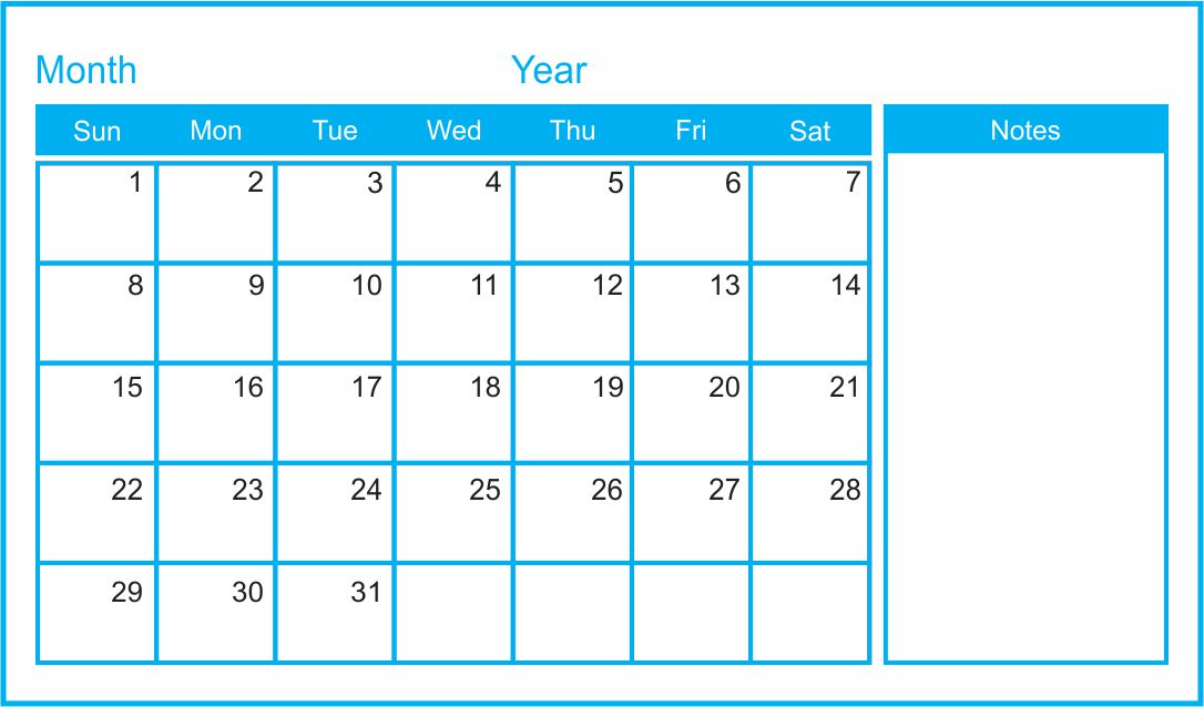 Inserting an intentionally blank page into a document is a useful way of separating chapters, sections or blocks of information. 7 Best Images of Printable Blank Monthly Calendar Template ...