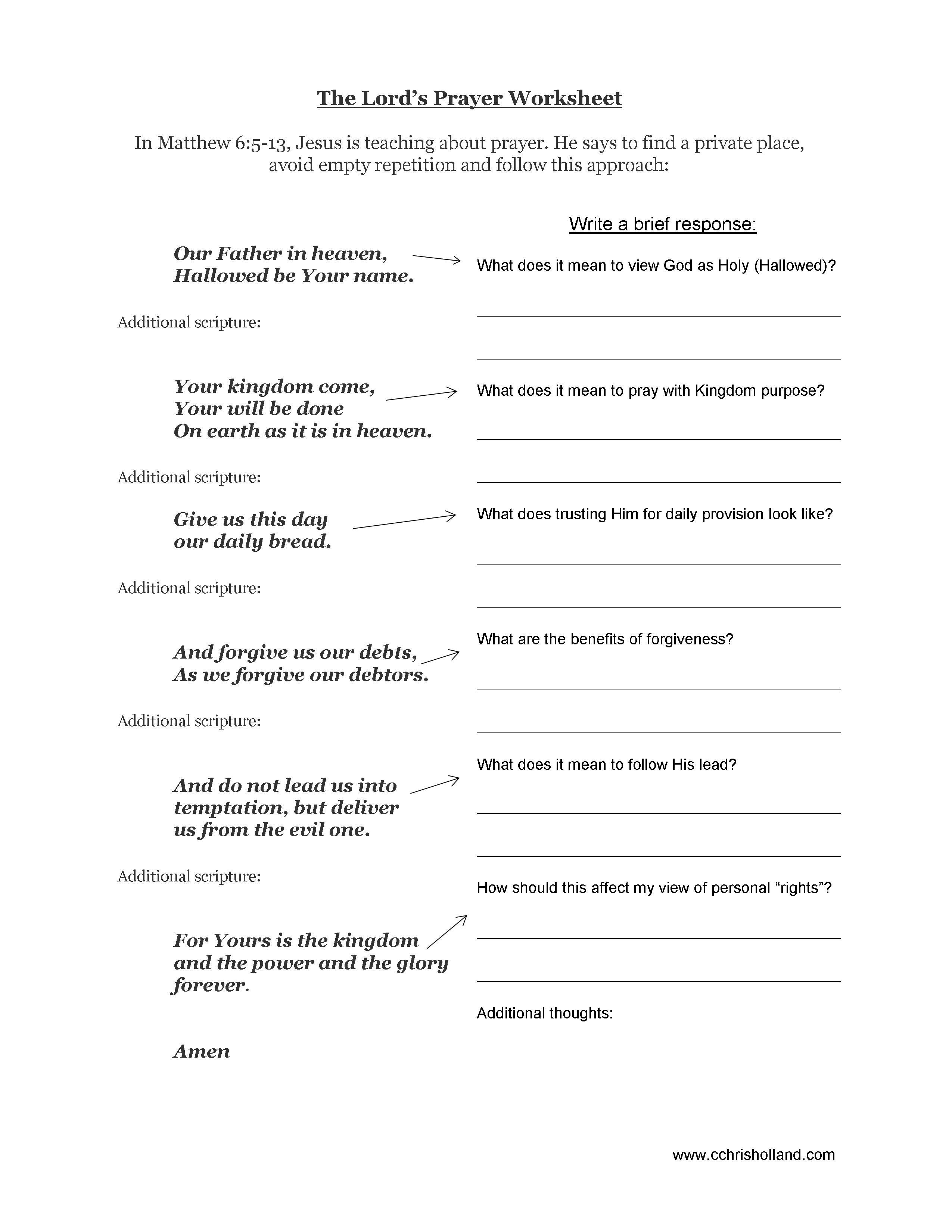 6 Best Images Of Kjv Bible Study Printable Worksheets