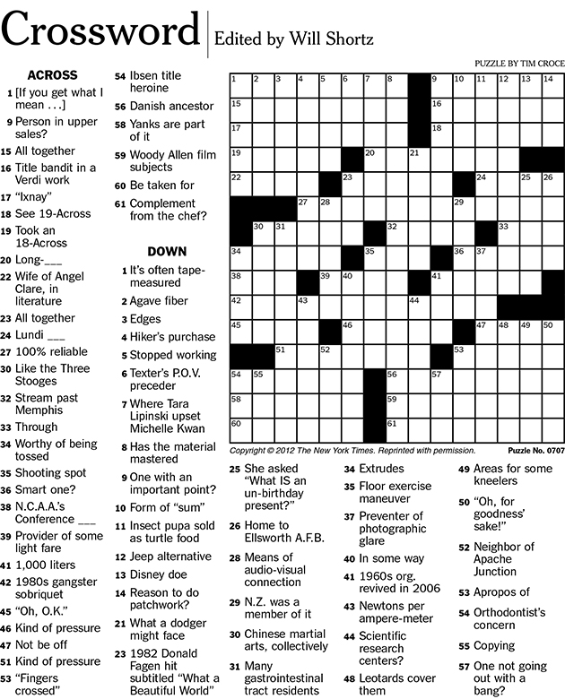 6 Best Images of Printable Crossword Puzzles With Solution