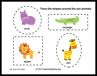 Kindergarten Zoo Animal Worksheets