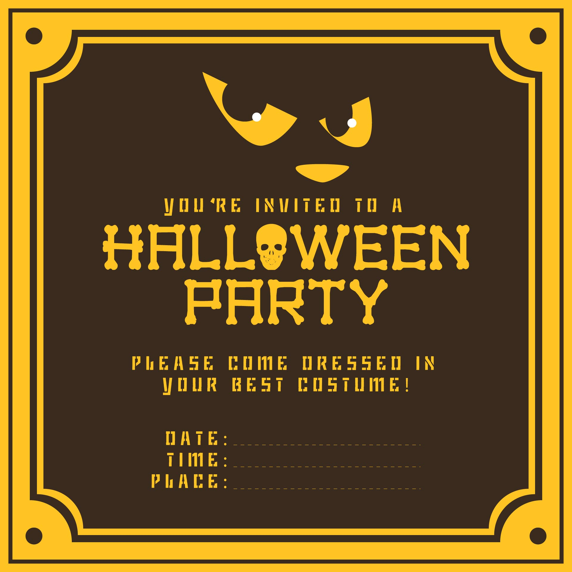 8 Best Images Of Free Printable Halloween Invitations