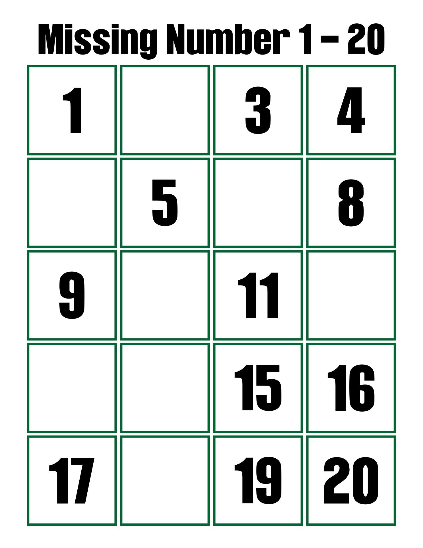 8 Best 1 20 Worksheets Printable