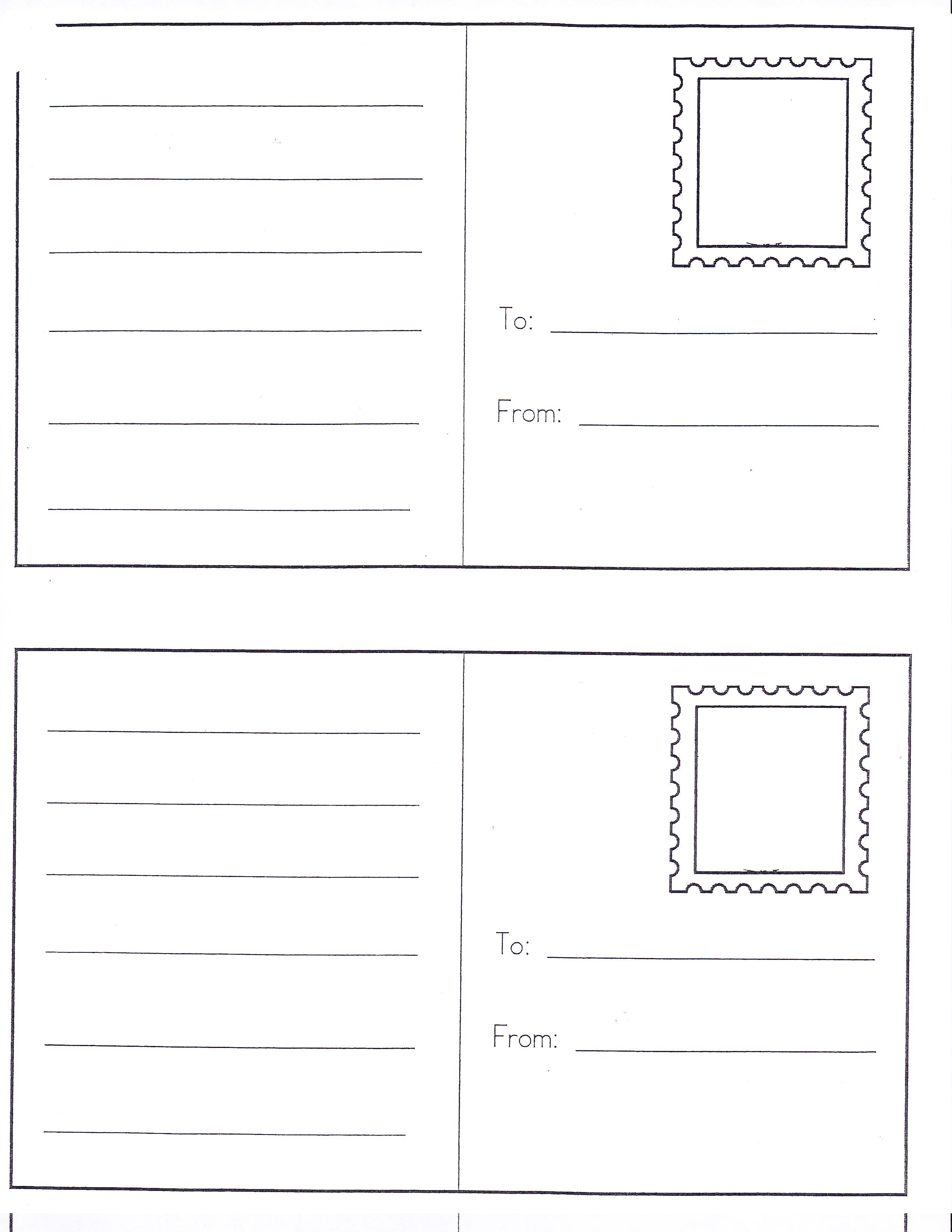 8 Best Images Of Preschool Post Office Stamps Printables