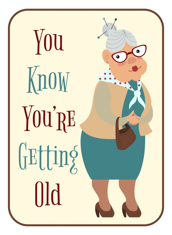 Funny Old Lady Birthday Cards 7 Of Hilarious Printable