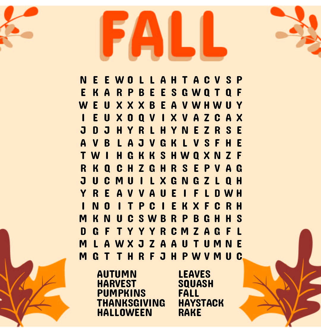 6 Best Free Printable Fall Word Searches