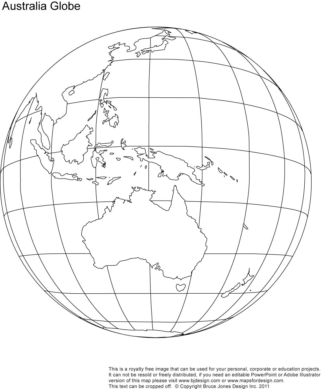 9 Best Images Of Printable Outline World Globe