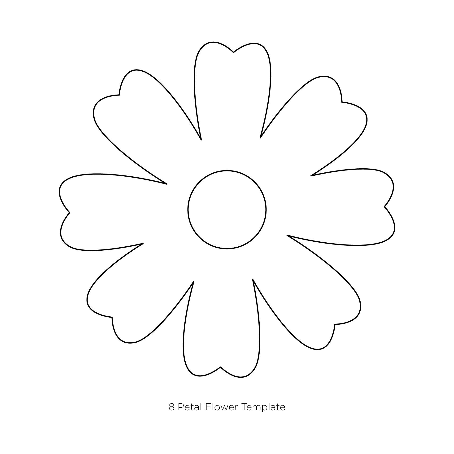 7 Best Images of Paper Flower Petal Template Printable