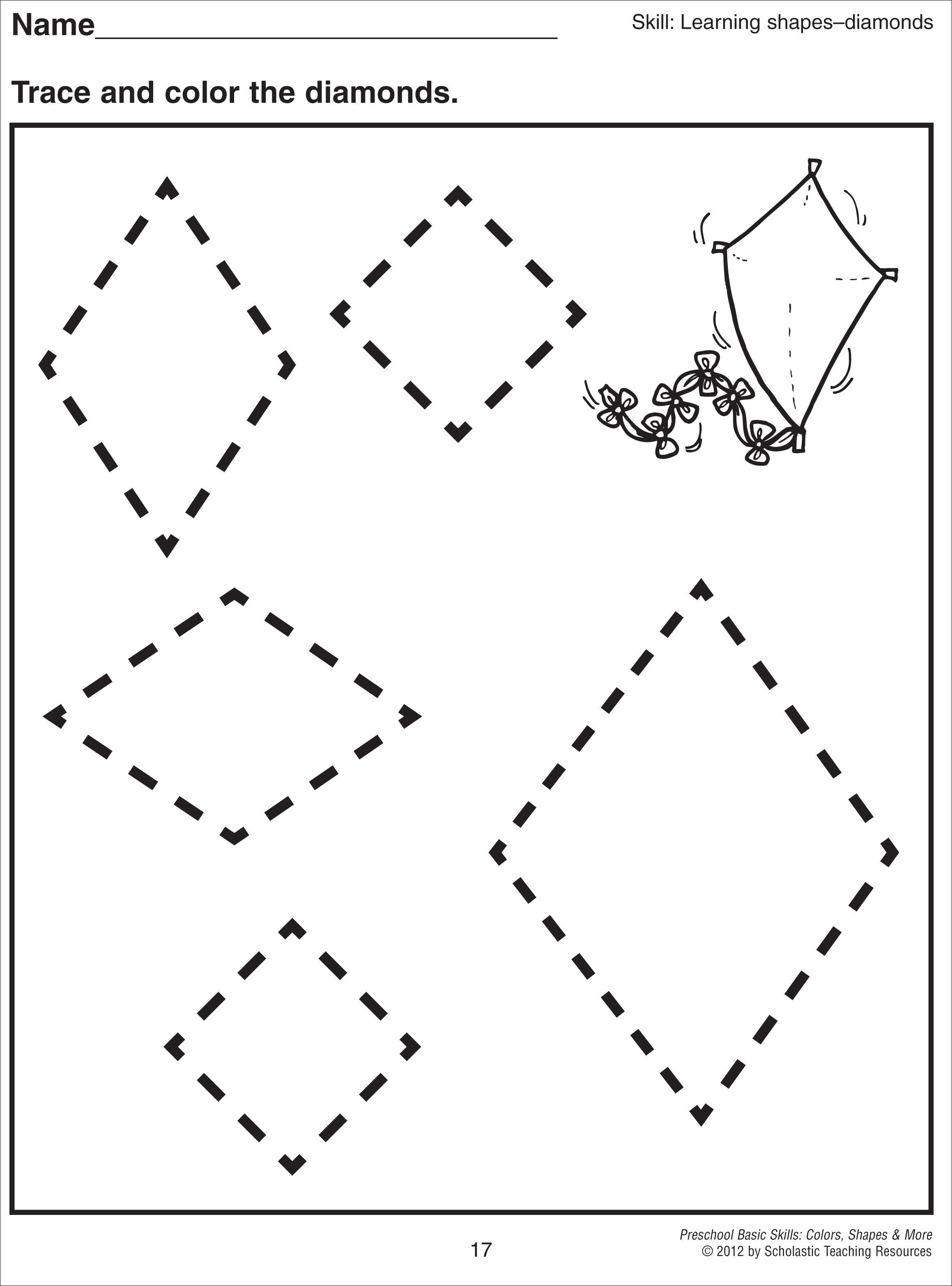 4 Best Images Of Diamond Shape Printable Worksheets