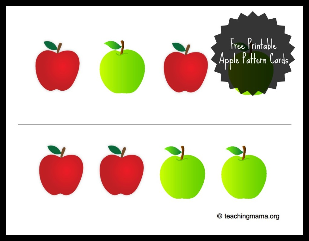 6 Best Images Of Free Apple Printables
