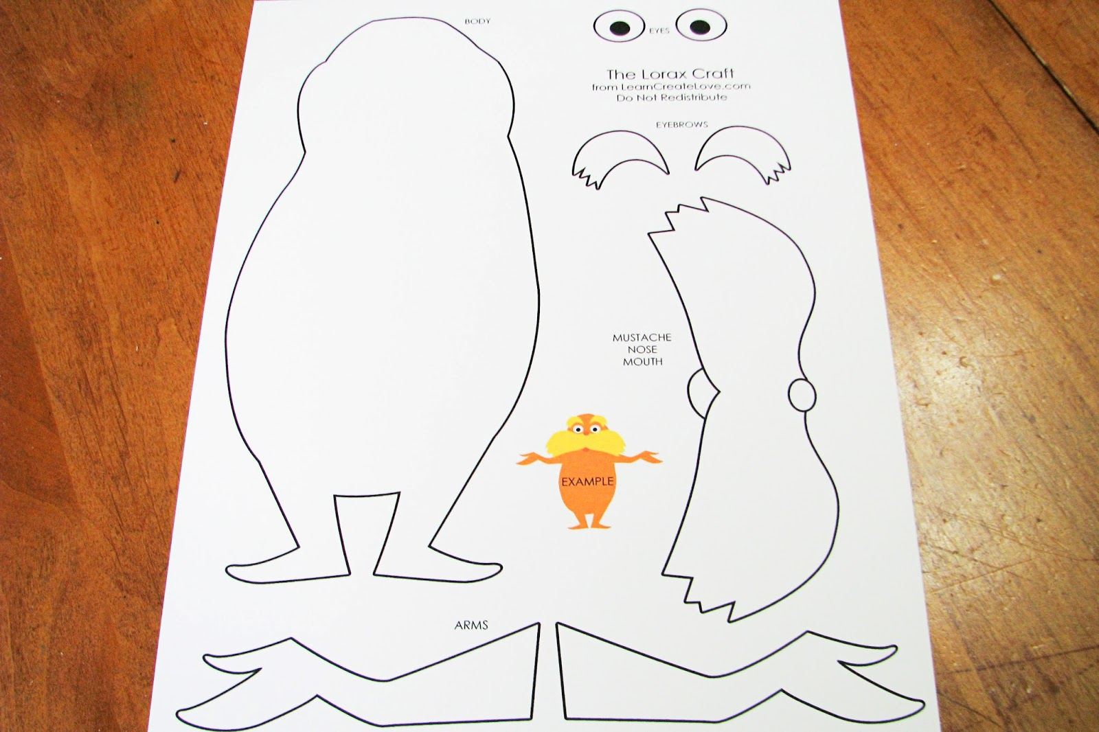photograph relating to Lorax Template Printable identify 20+ Dr Seuss Craft Templates Shots and Recommendations upon Weric