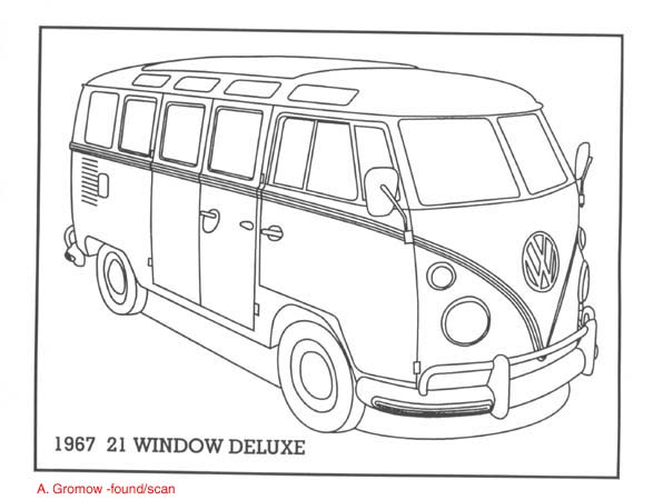 5 Best Images of Volkswagon Bus Printable Coloring Pages