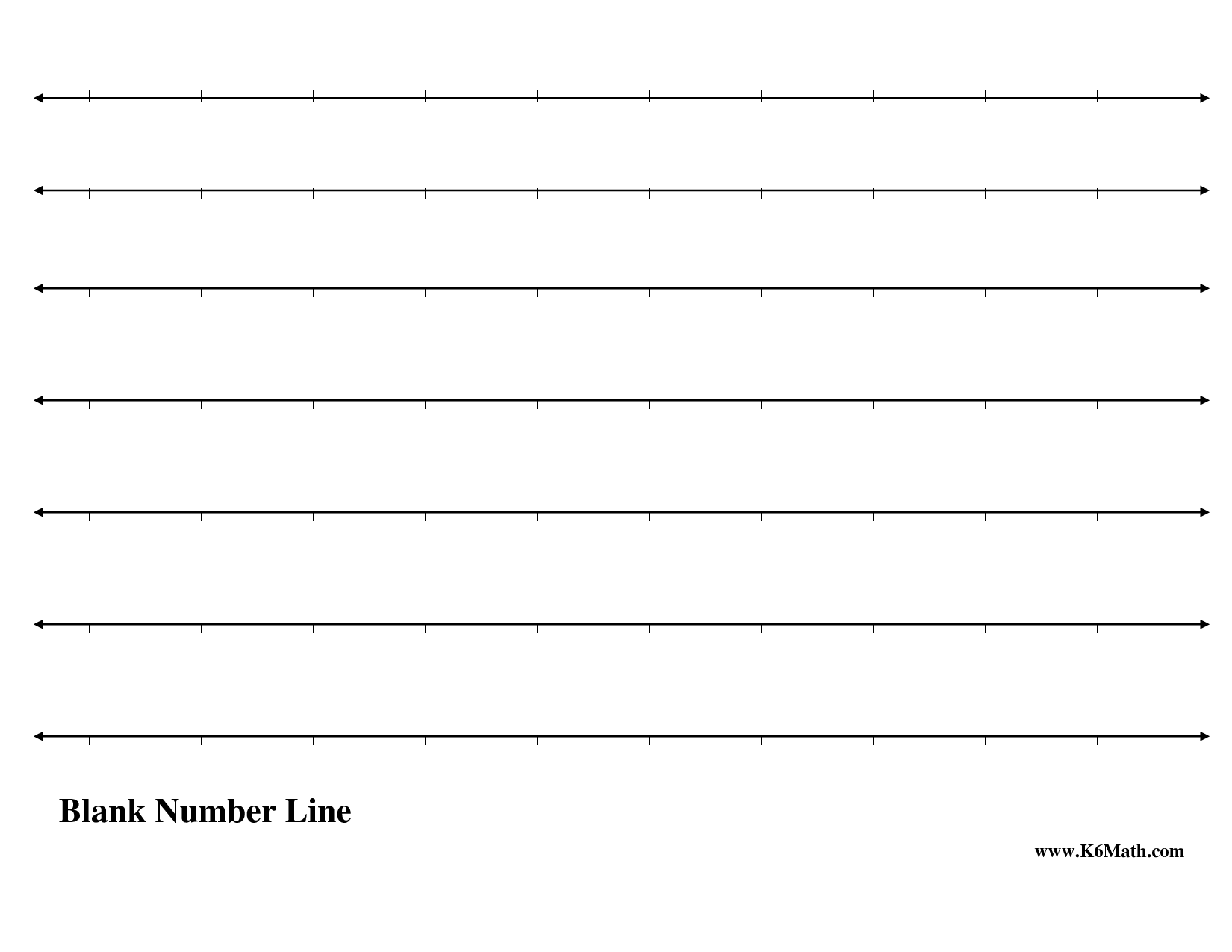 4 Best Images Of Free Printable Number Lines To 20