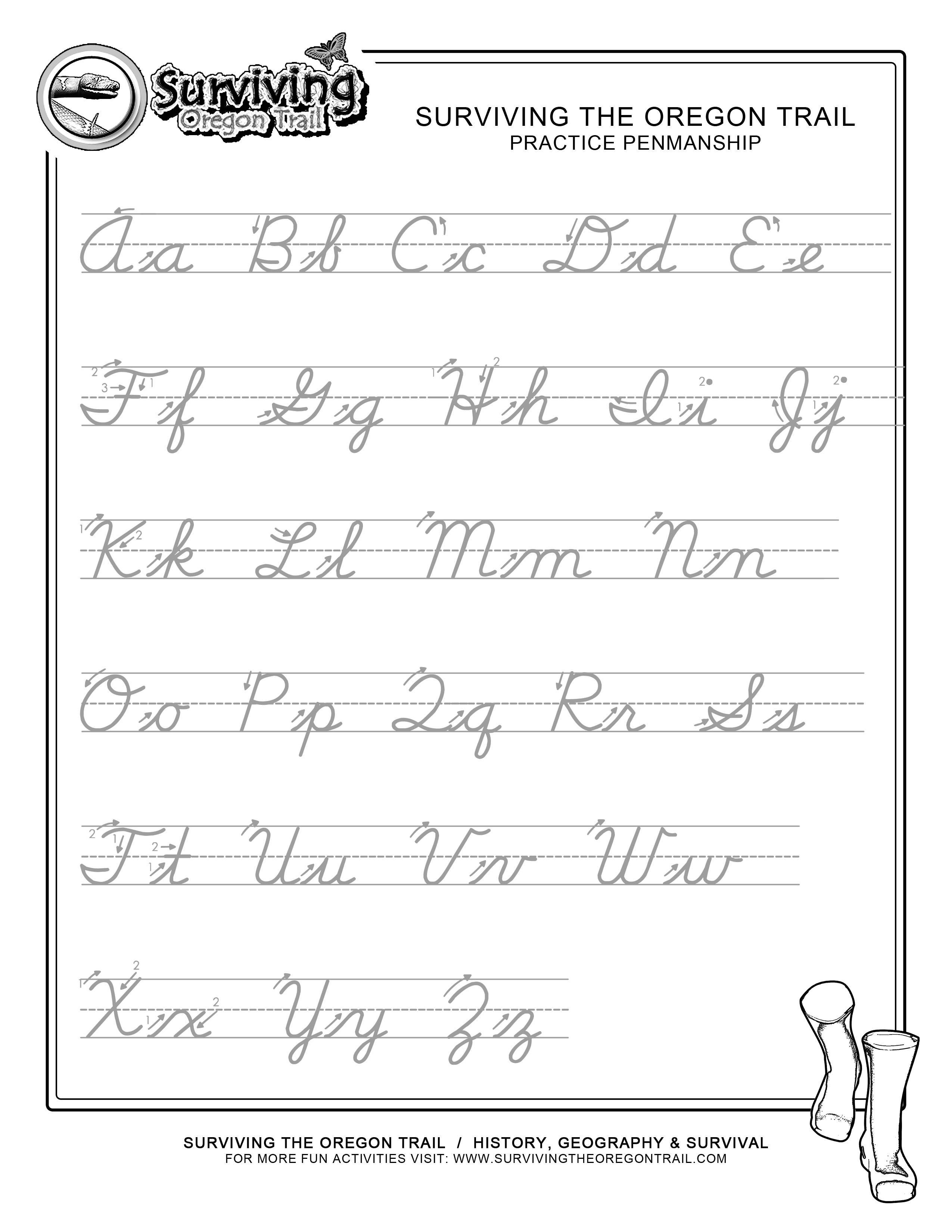 5 Best Images Of Printable Cursive Handwriting Practice