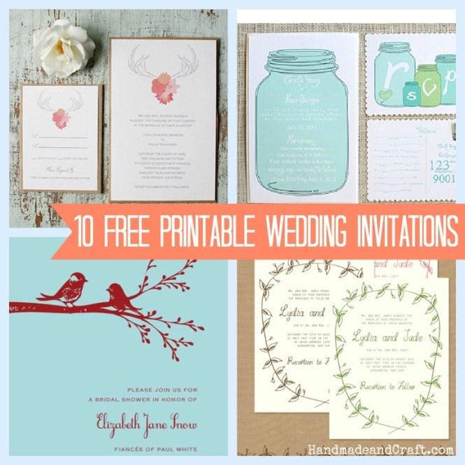 Diy Free Wedding Printables