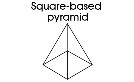net square based pyramid Gallery