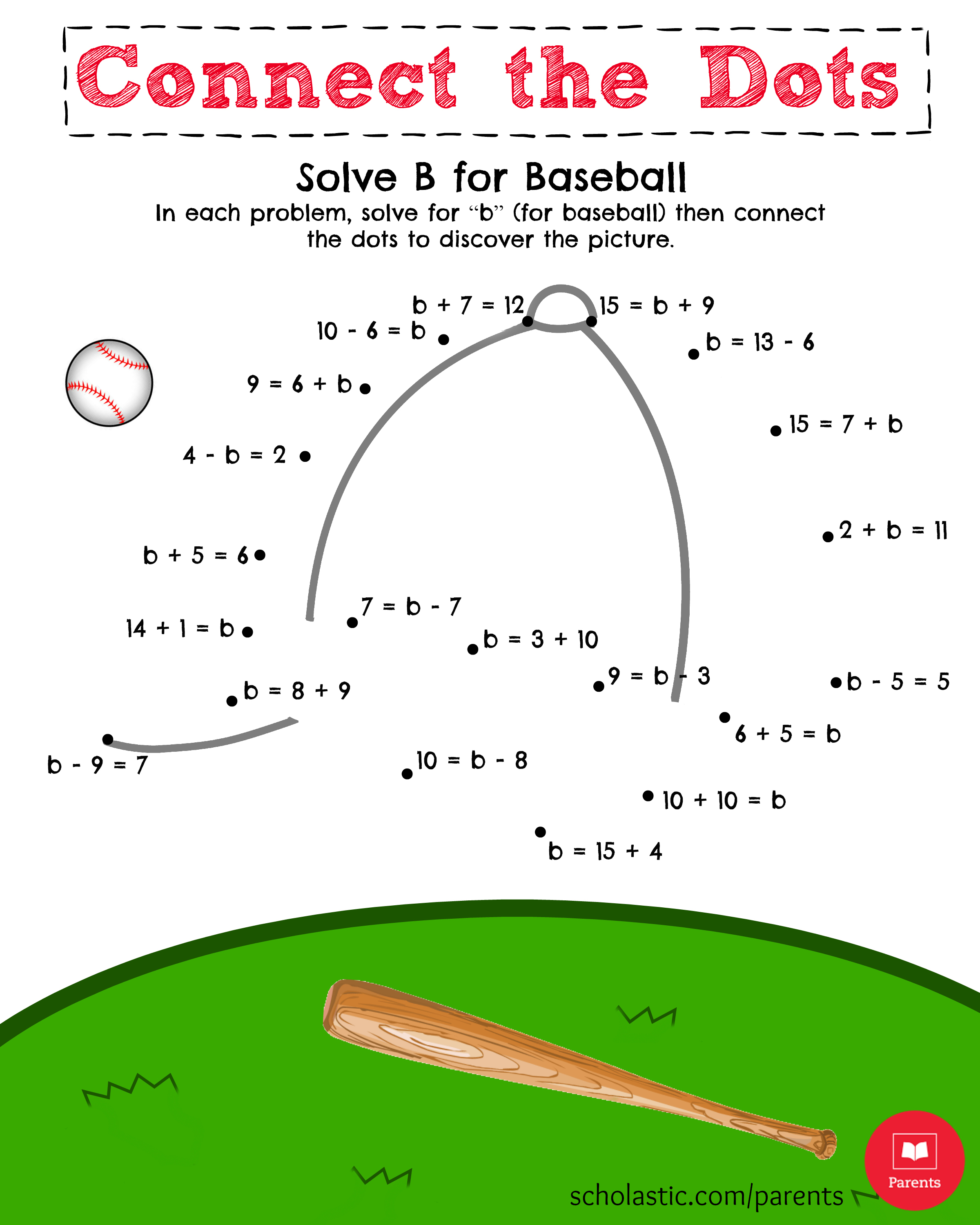 5 Best Images Of Baseball Math Printable Free