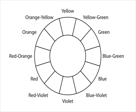 6 Best Images of Printable Basic Color Wheel Template