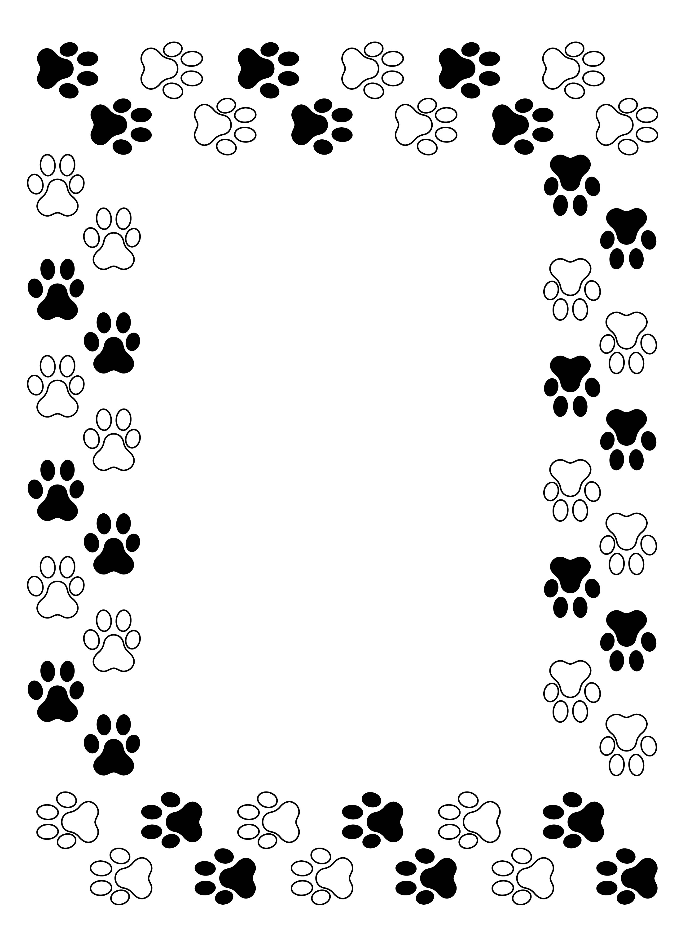 7 Best Images of Dog Free Printable Lined Writing Paper