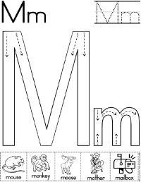Letter M Worksheets Kindergarten - letter m worksheets for ...