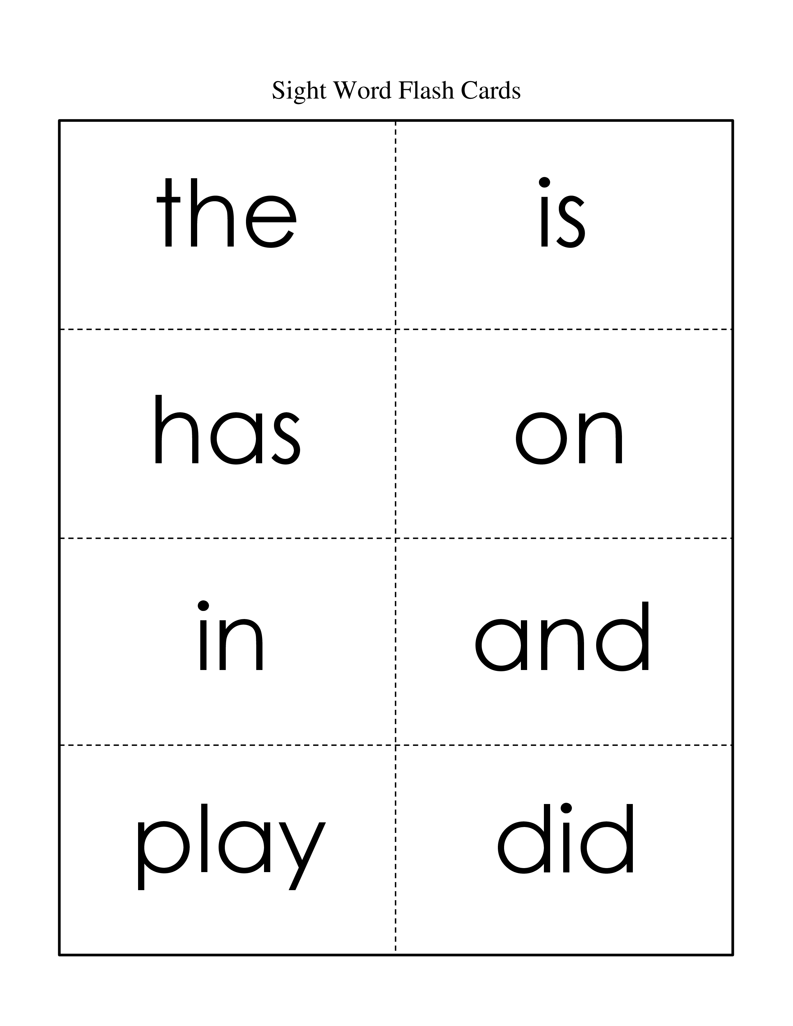 5 Best Images Of Sight Words Flash Cards Free Printable