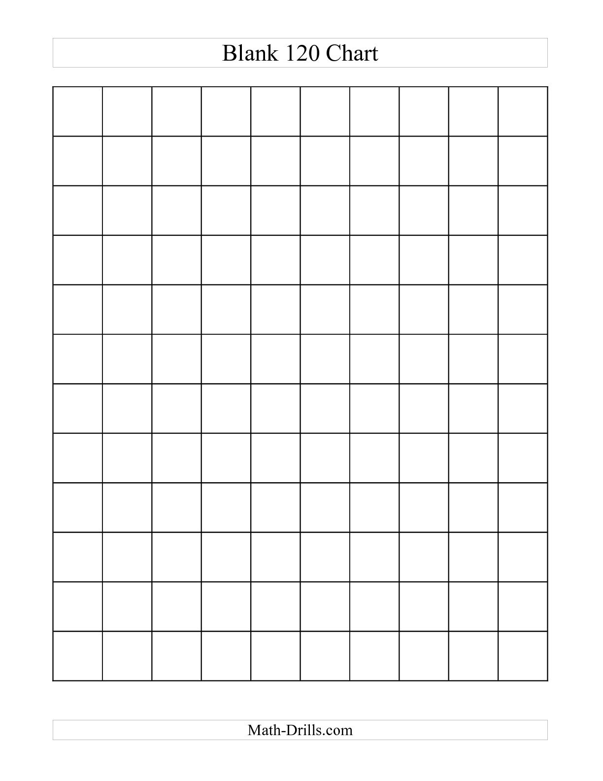 6 Best Images Of Blank Printable 120 Number Chart