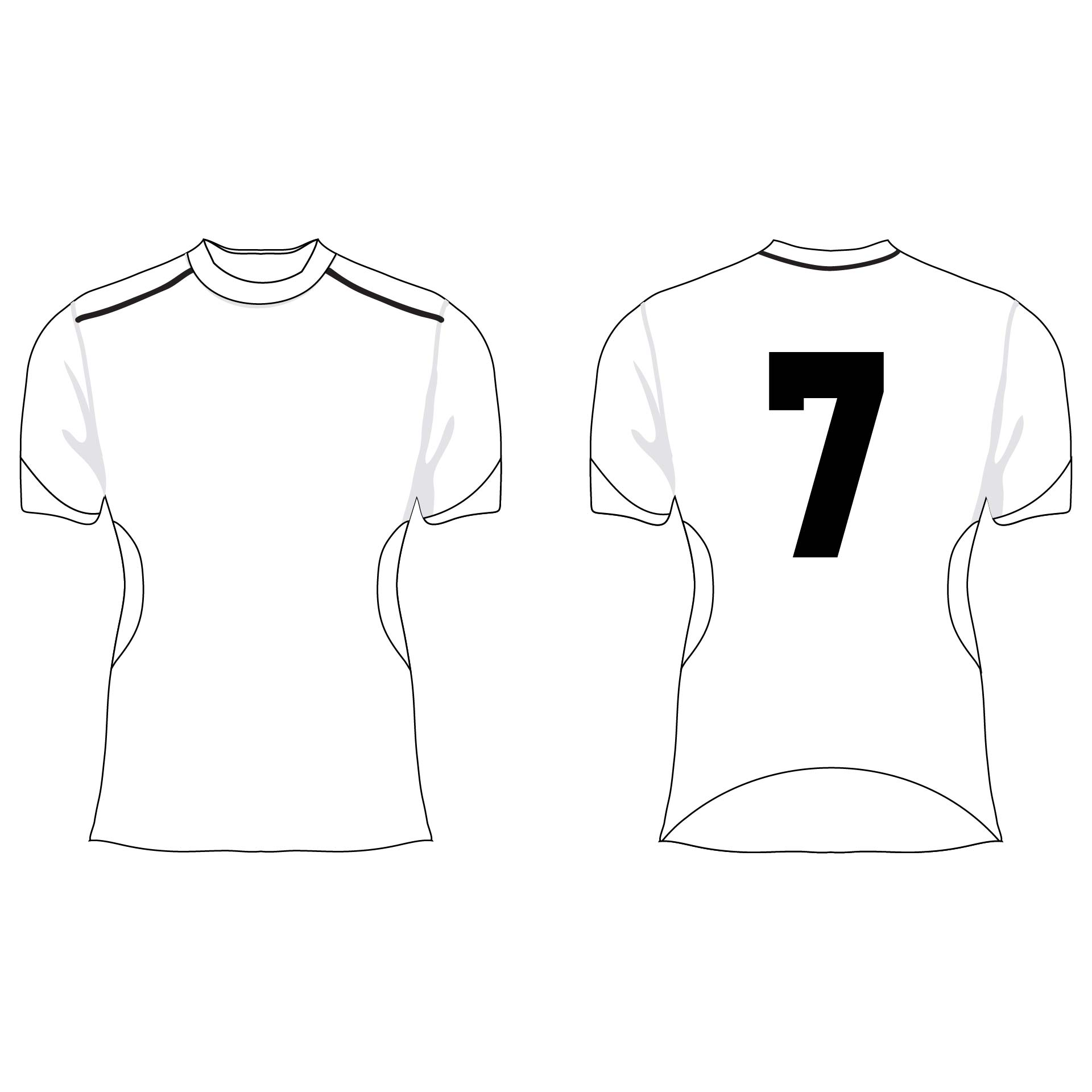 8 Best Images of Football Jersey Template Printable