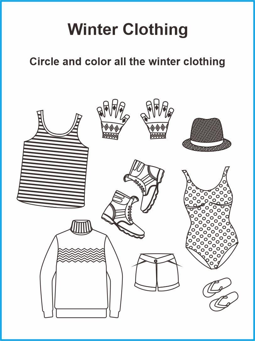 10 Best Clothing Printable Worksheets For Preschoolers