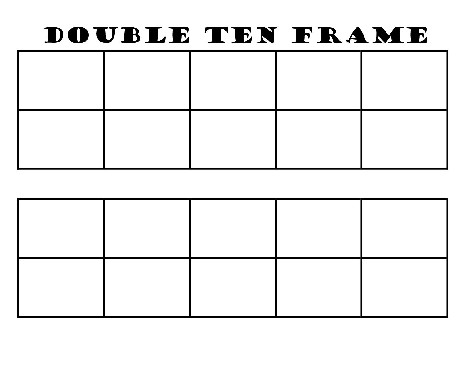 Search Results For Blank Ten Frame Printable Calendar