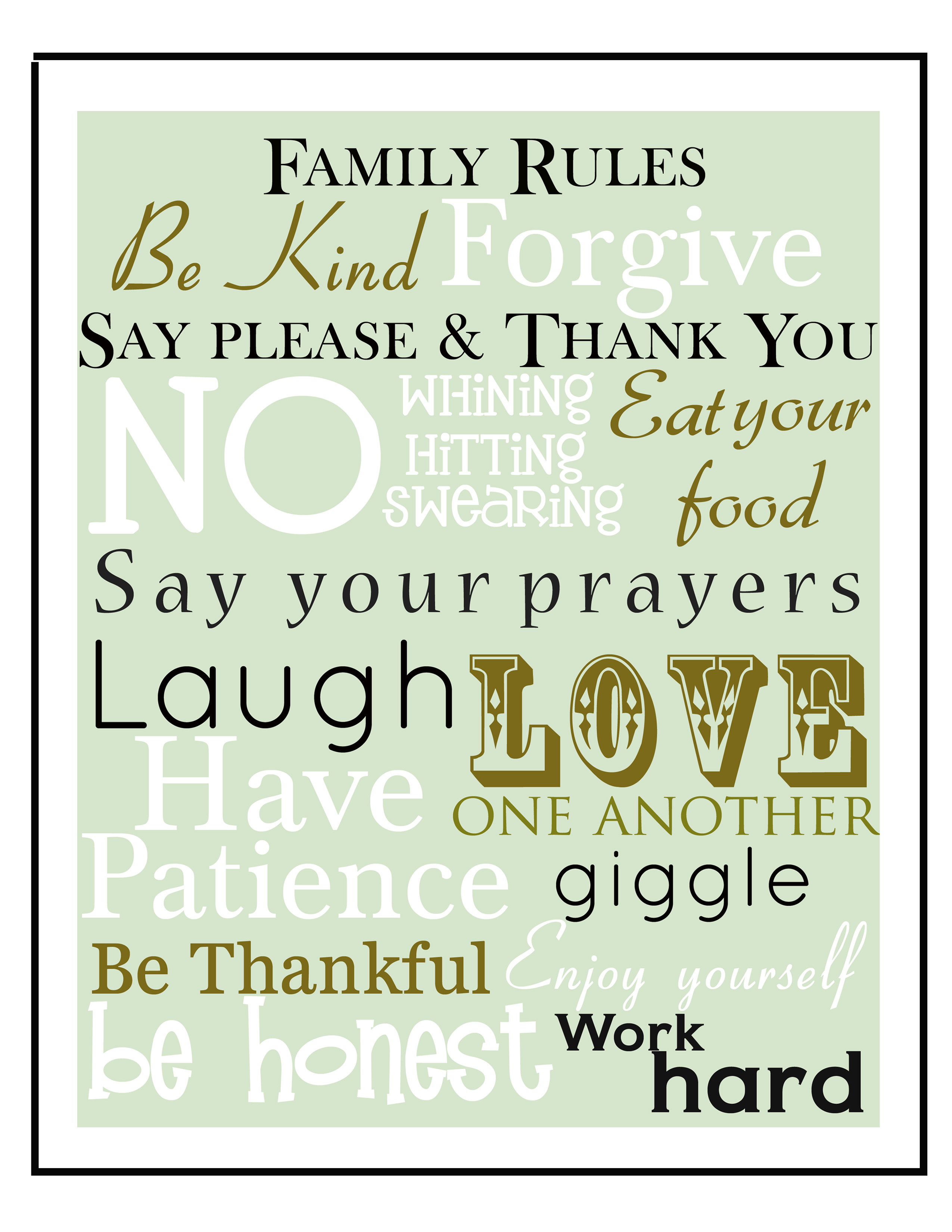 9 Best Images Of Free Family Printables