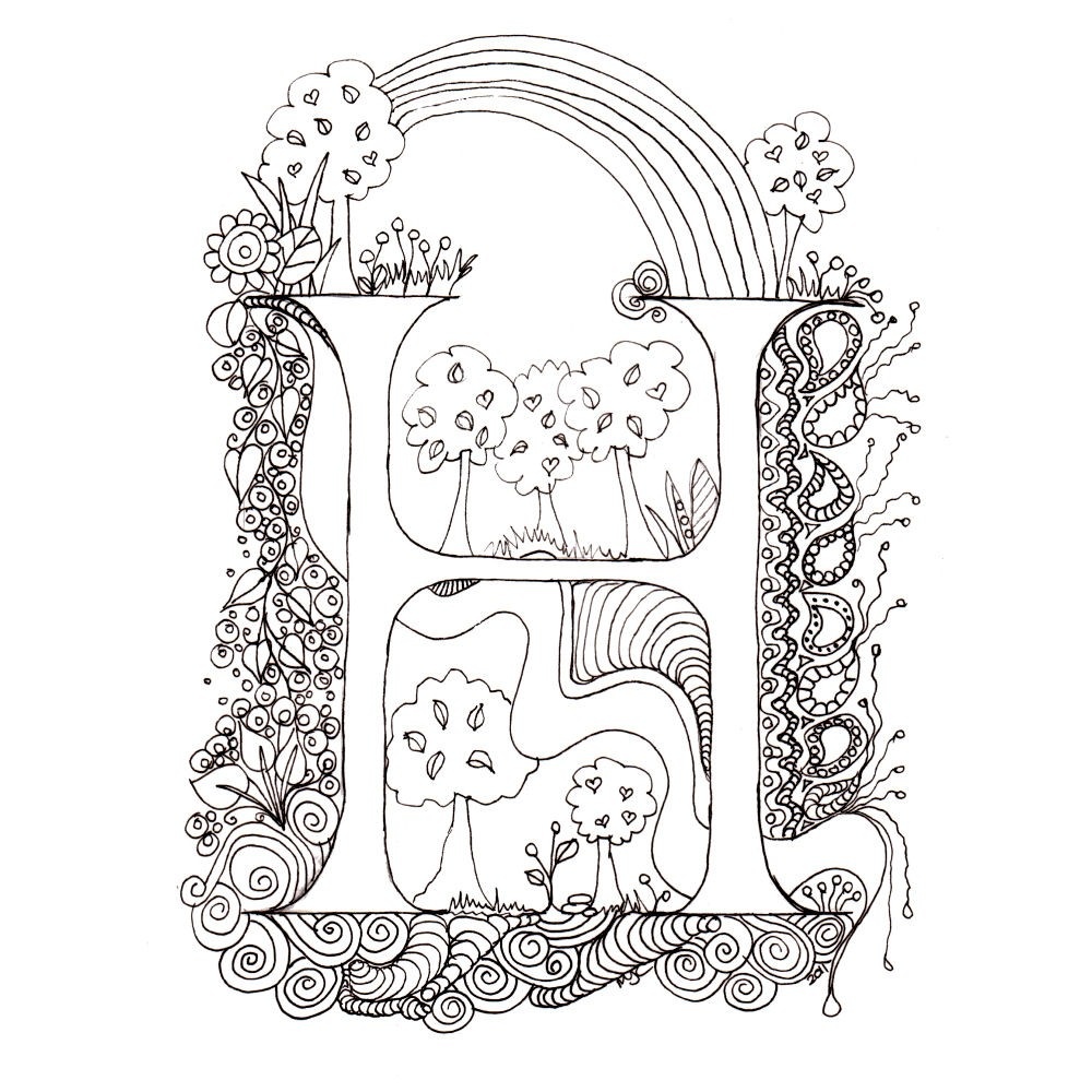 Illuminated Alphabet Pages Coloring Pages