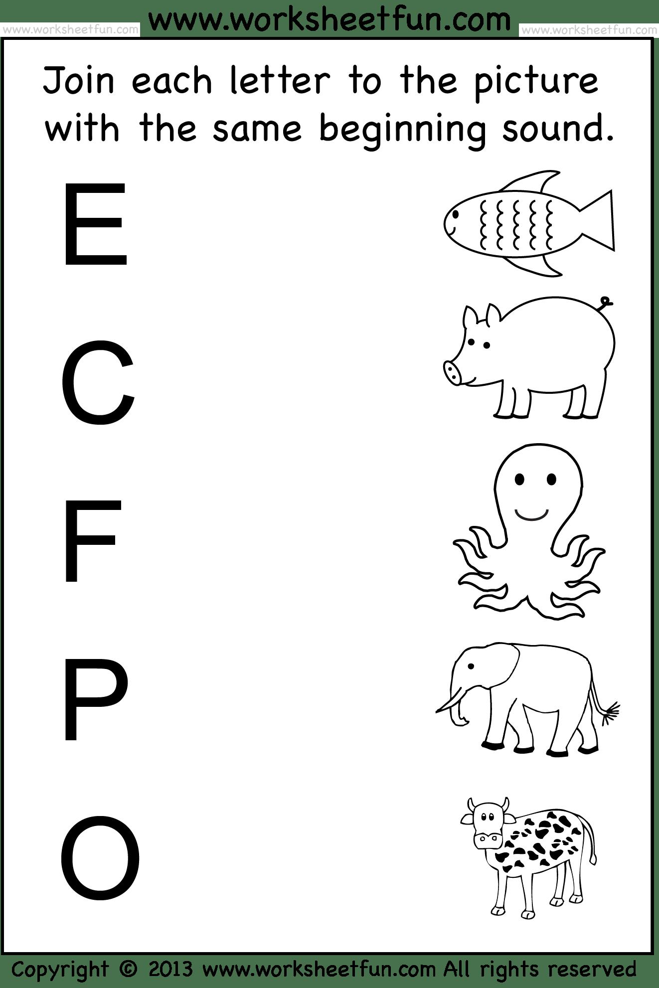 6 Best Images Of Full Pages Preschool Printable Worksheet
