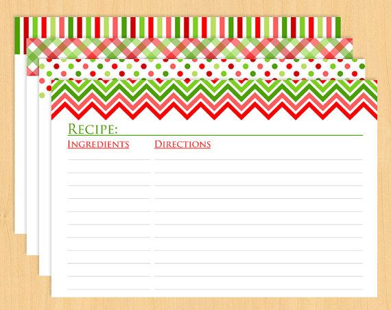 6 Best Images Of Printable Recipe Cards Christmas Free