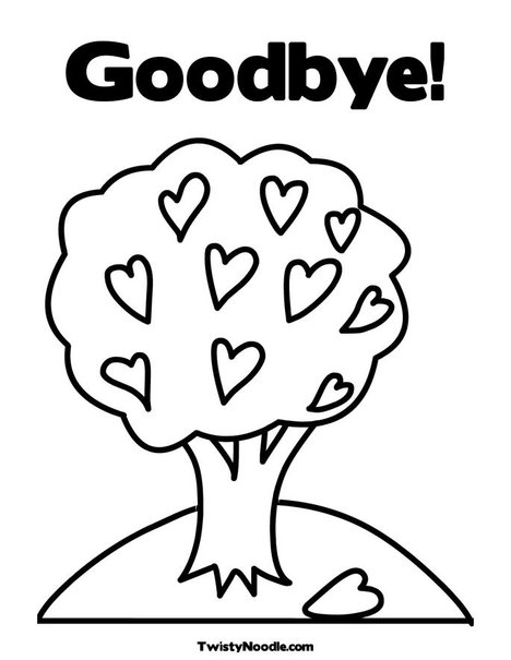 Free Coloring Pages Of Farewell