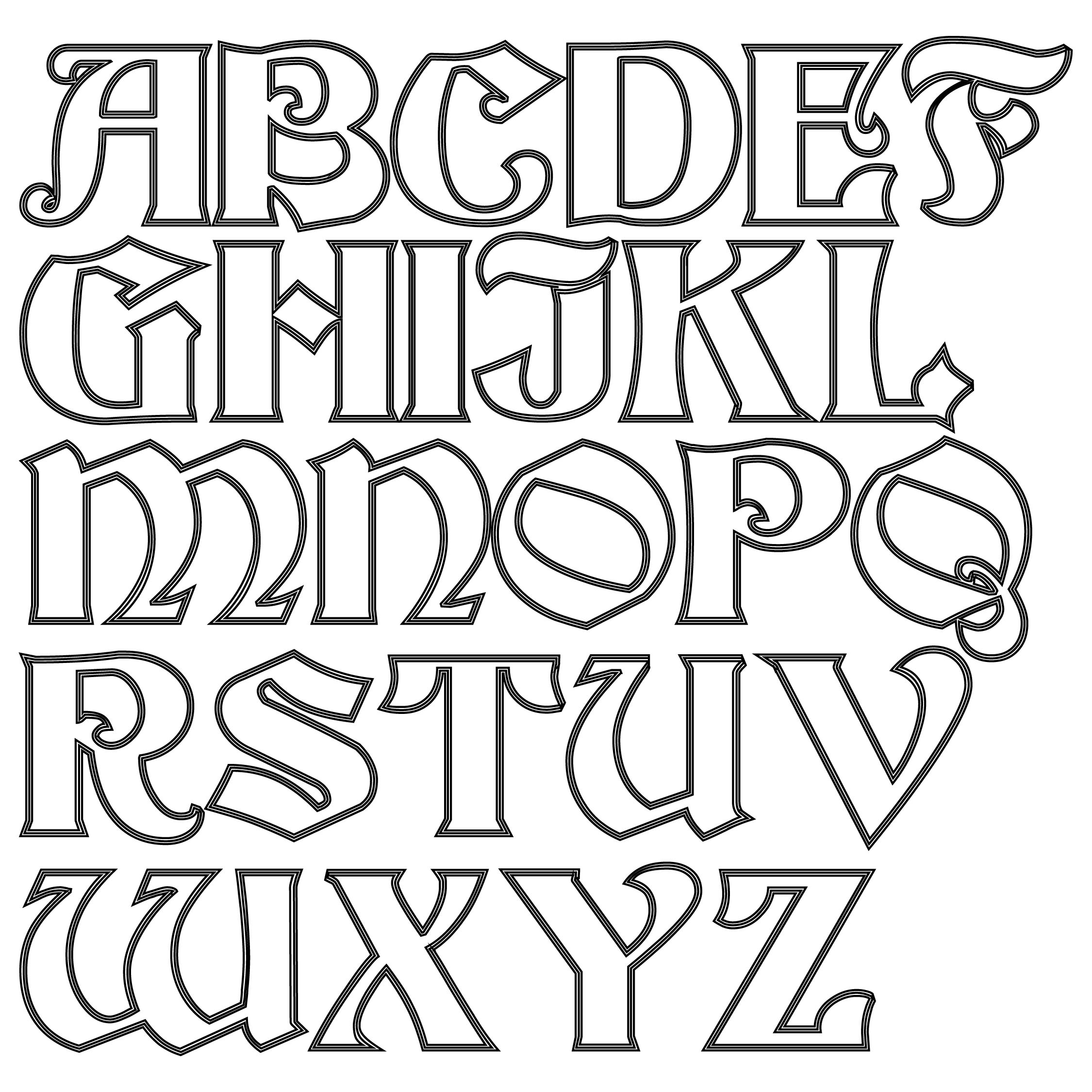 7 Best Images Of Free Printable Alphabet Cut Outs