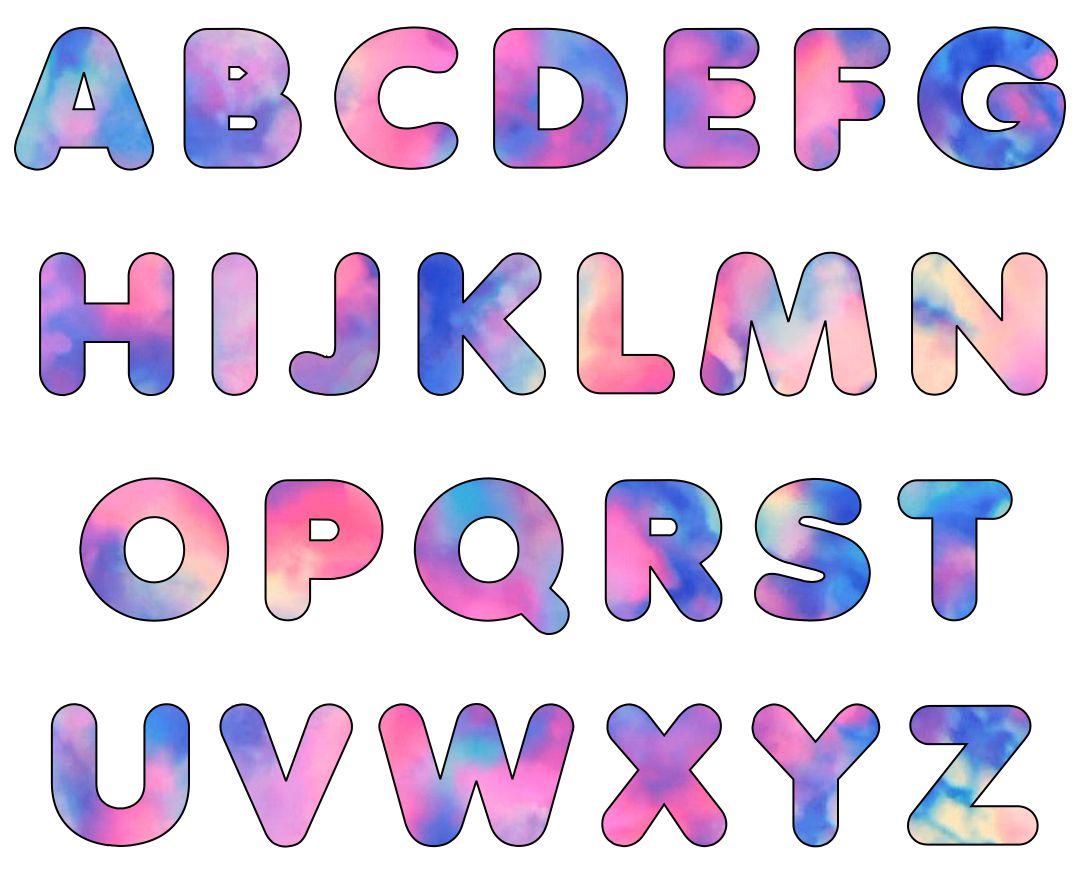 Large Printable Bubble Letters Free